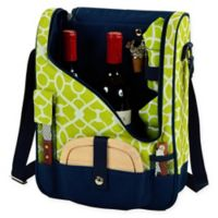 Picnic at Ascot Trellis Wine and Cheese Cooler Bag for 2 in Green