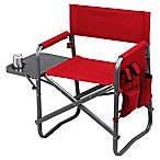 Picnic at Ascot Outdoor Deluxe Sports Chair with Side Table in Red