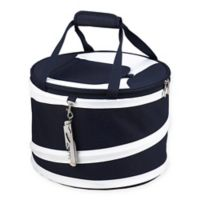Picnic at Ascot 24-Can Collapsible Cooler in Navy/White