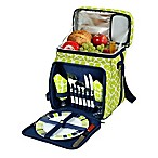 Picnic at Ascot Trellis Picnic Basket/Cooler for 2 in Green