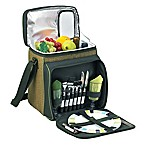 Picnic At Ascot™ Picnic Cooler with Service For 2 in Tan/Green