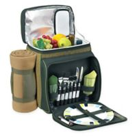 Picnic at Ascot Eco Picnic Basket/Cooler for 2 with Blanket in Green
