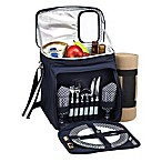 Picnic At Ascot™ Hamptons Picnic Cooler with Service For 2 and Blanket in Navy/White