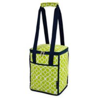 Picnic at Ascot Trellis 24-Can Collapsible Cooler Tote in Green
