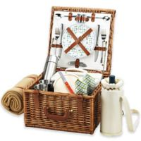 Picnic at Ascot Cheshire Picnic Basket For 2 with Blanket and Coffee Cups in Gazebo