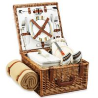 Picnic at Ascot Cheshire Picnic Basket For 2 with Blanket in Santa Cruz