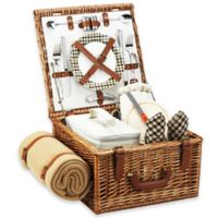 Picnic at Ascot Cheshire Picnic Basket For 2 with Blanket in London