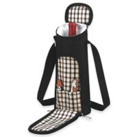Picnic at Ascot Single-Bottle Wine Tote in London Plaid