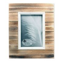 Lawrence Frames Weathered Picket Fence 5-Inch x 7-Inch Picture Frame in Natural