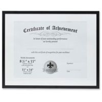 Lawrence Frames 11-Inch x 14-Inch Matted Aluminum Document Frame in Black