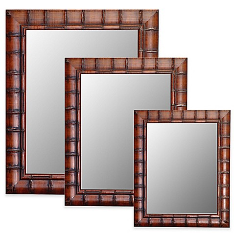 Hitchcock Butterfield Fruitwood Bamboo Wall Mirror Bed Bath Beyond