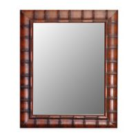 Hitchcock-Butterfield 27-Inch x 37-Inch Fruitwood Bamboo Wall Mirror