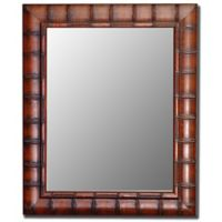 Hitchcock-Butterfield 36-Inch x 46-Inch Fruitwood Bamboo Wall Mirror