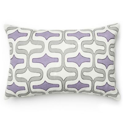 loloi paula square throw pillow in plumgrey