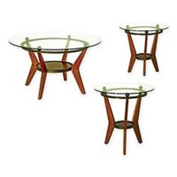 Steve Silver Co. Saxony 3-Piece Table Set in Brown