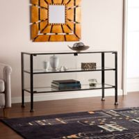 Southern Enterprises Terrarium Display Console in Black