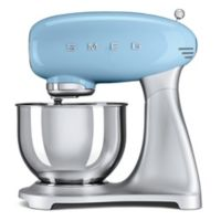SMEG 5-Quart Retro Stand Mixer with Stainless Steel Bowl in Pastel Blue