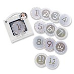 Baby Aspen My First Milestone 12-Piece Baby Month Stickers in Blue