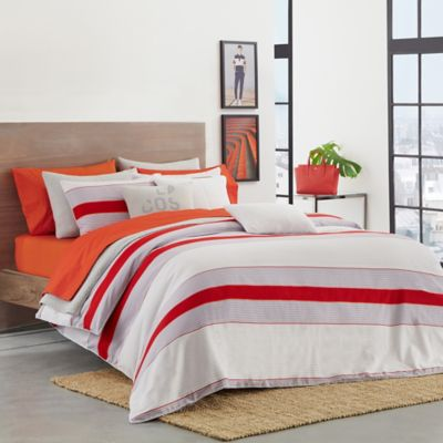 Lacoste Sirocco Twin Twin Xl Duvet Cover Set In Red