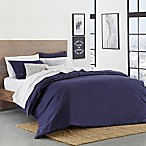 Lacoste Washed Solid Twin/Twin XL Duvet Cover Set in Indigo