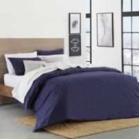 Lacoste Washed Solid King Duvet Cover Set in Indigo