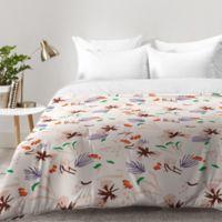 DENY Designs Holli Zollinger Anthology Seville Garden Queen Comforter in Pink