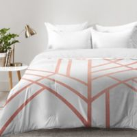DENY Designs Elisabeth Fredriksson Art Deco Twin Comforter in Rose Gold