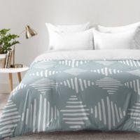 DENY Designs Mareike Boehmer Sketches 1 Queen Comforter in Blue