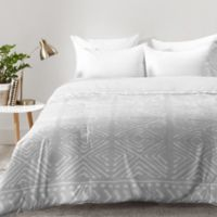 DENY Designs Dash and Ash Stars Above Queen Comforter in Grey