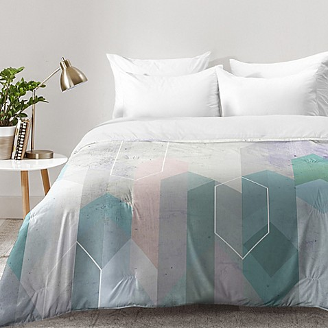 image of Deny Designs Emanuela Carratoni Raw Gems Comforter in Blue