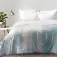 DENY Designs Emanuela Carratoni Raw Gems Queen Comforter in Blue