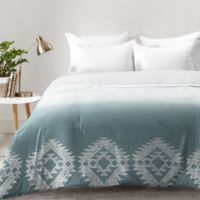 DENY Designs Dash and Ash Morning Fogg Queen Comforter in Blue
