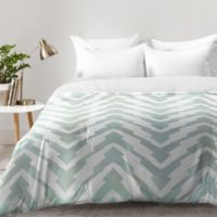DENY Desings Georgiana Paraschiv Pastel Zigzag Twin Comforter in Green