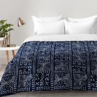 DENY Designs Dash and Ash Just Moody Queen Comforter in Blue