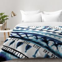 DENY Designs Amy Sia Indigo Stripe King Comforter in Blue