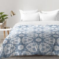 DENY Designs Jaqueline Maldonado Shibori Watercolor Twin Comforter in Grey