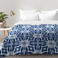 DENY Designs Jaqueline Maldonado Shibori Watercolor Queen Comforter in Grey