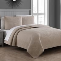 Fenwick King Quilt Set in Taupe