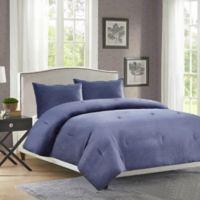 Velvet King Comforter Set in Blue