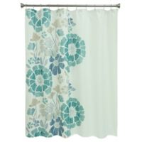 Bacova Peyton Floral Shower Curtain In Blue