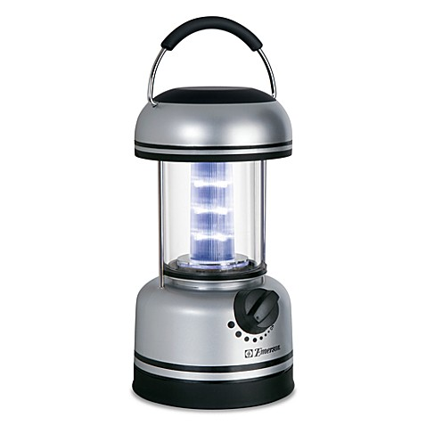 Emerson Lantern Battery Operated LED® in Silver