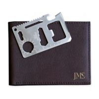 Cathy's Concepts Bi-Fold Wallet with Multi-Function Tool in Brown