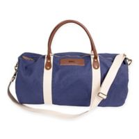 Cathy's Concepts Canvas and Leather Duffle Bag in Navy