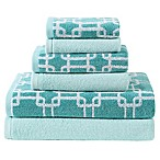 VCNY Clairebella Links/Solid 6-Piece Towel Set in Blue