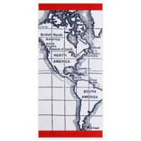 Seedling by Thomaspaul Map Beach Towel in White