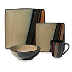 Sango Avanti Black 16-Piece Dinnerware Set