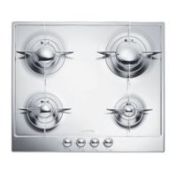 SMEG Piano Design 24-Inch Gas Cooktop in Polished Stainless Steel