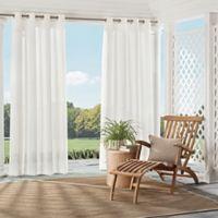 Parasol Summerland Key 108-Inch Grommet Top Sheer Indoor/Outdoor Window Curtain Panel in White