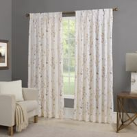 Willow 95-Inch Back Tab Window Curtain Panel in Gold