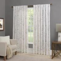 Willow 95-Inch Back Tab Window Curtain Panel in Turquoise